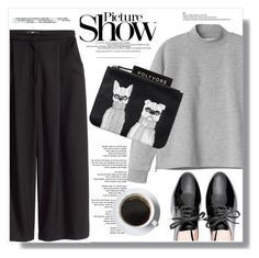 """""""Black & Grey"""" by myfashionwardrobestyle ❤ liked on Polyvore featuring H&M, Monki, Miu Miu and SANCHEZ"""