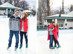 Ice Skating Engagement Session by Summer Street Photography