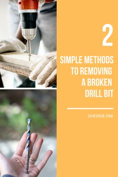 Breaking a drill bit can be frustrating during a project, but with this guide on how to remove them, you will be back to working in no time. #sawshub #working #brokendrillbit #project Drill Bit Sizes, Cheap Tools, Great Gifts For Men, Hammer Drill, Stick It Out, Diy Home Improvement, Home Repair, Cleaning Hacks, How To Remove