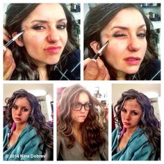 ninadobrev: #FBF Behind The Scenes process/different stages as Katherine slowly ages+deteriorates...Leading to her death. Sexy. #GreyHair #Wrinkles #TVD