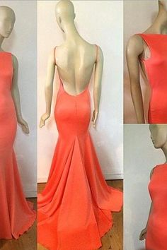 Sexy Prom Dresses,Prom Dress,Orange Evening Gown,Long Formal Dress,Orange Prom Gowns,Open Backs Night Club Dresses,Orange Prom Dress