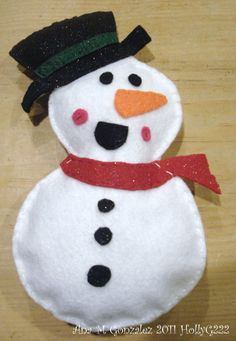 Snow Man I made for my Aunt
