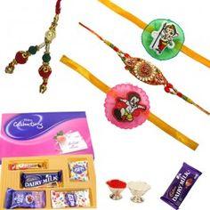 Buy Rakhi Gifts with Family Rakhi Set and Cadbury Celebration Festival Pack from http://www.rakhistoreonline.com/rakhi-with-chocolates/family-rakhi-set-with-cadbury-celebration-festival-pack.html