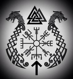 I'm a Norse Pagan who loves Viking culture and lifestyle. Trying to honor my ansestors best I can. Hail the Gods! Viking Tattoo Symbol, Pagan Tattoo, Norse Tattoo, Wiccan Tattoos, Inca Tattoo, Viking Tattoo Design, Celtic Tattoos, Symbolic Tattoos, Indian Tattoos