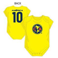 Baby Club America Bodysuit, Logo + Number 10