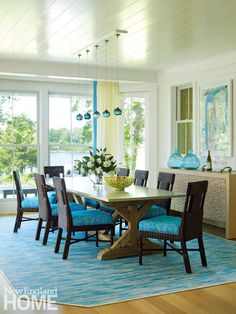 Jennifer Palumbo Interior Design. Turquoise Dining Room ...