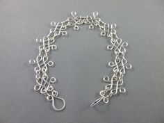 Silver Labyrinth Style Wire Wrapped Bracelet, Wire Wrapping, Bracelets, Silver, Jewelry, Style, Bangles, Jewlery, Money