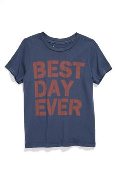 Peek 'Best Day Ever' T-Shirt (Toddler Boys, Little Boys & Big Boys) available at #Nordstrom