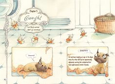Double page from Lint Boy -Graphic novel by Aileen Leijten
