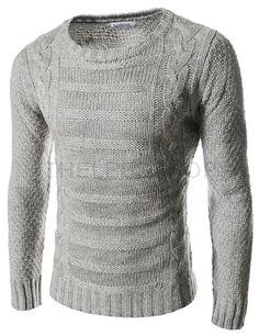 pattern round neck sweater
