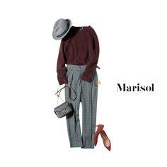 相性抜群バーガンディ×グレンチェックで日常コーデがぐっと垢抜ける【2018/1/18コーデ】Marisol ONLINE 女っぷり上々!40代をもっとキレイに。