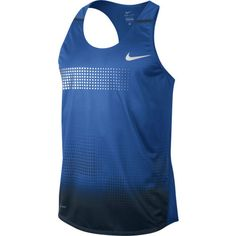 #Nike Men's - The Nike Distance Men's Running Singlet is comfortable and breathable with lightweight mesh and Dri-FIT fabric that lifts sweat away from the skin. The racerback design allows for a wider range of motion. A great summer running vest. $55.00 (09/13)