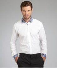A new social shopping site centered around gift-giving. White Shirt Men, Classic White Shirt, White Shirts, Collar Dress, Dress Shirt, Mens Paisley Shirts, Point Collar, Shopping Sites, White Cotton
