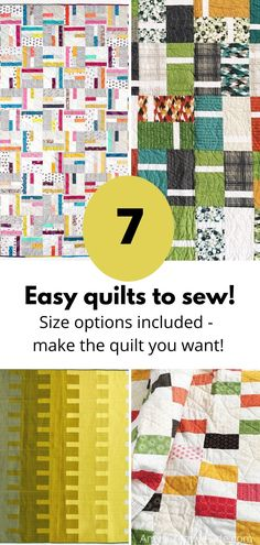 Many of us are staying home this summer - add some easy quilts to your projects for your therapy sewing.
