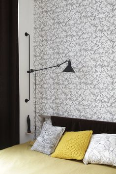 Bedroom. Vivienne Westwood Lace wallpaper. Available at our Ilkley store.