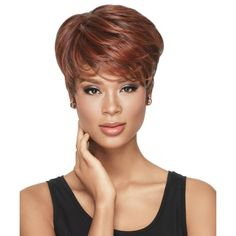 Tapered Tomboy Synthetic Wig by Lux Hair NOW - African American Wigs - Best Wig Outlet® Short Hairstyles For Women, Wig Hairstyles, Straight Hairstyles, Hairstyle Short, African Hairstyles, Celebrity Hairstyles, Wig Styles, Curly Hair Styles, Short Curly Wigs