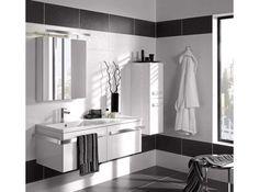 Salle de bain noir et blanc lapeyre