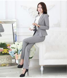 Profesional del otoño traje de negocios para mujer más tamaño falda trajes  del trabajo del OL f5bd17c678e