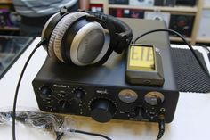 SPL Phonitor 2 amplifier & A&K AK240 digital player paired with Beyerdynamic DT880Pro headphones - an incredibly ridiculous combo :-)