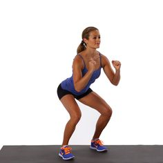 Basic Squat: A basic squat is the cornerstone of strong gluteus maximus muscles (aka a toned backside).