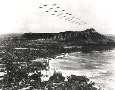 B-18s Over Diamond Head, 1940