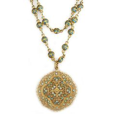 Catherine Popesco Necklace - 14k Gold Plated Filigree Medallion Beaded Chain Necklace, Pacific Opal 1125G Catherine Popesco http://www.amazon.com/dp/B00BTL35WE/ref=cm_sw_r_pi_dp_Zuf0tb04XPWF4G7K