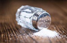 Spilling salt shaker