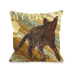 I love my Cat Wood Throw Pillow x 26 Pillow), Multi, Size Specialty (Polyester, Animal) Fur Throw Pillows, Throw Pillow Sets, Outdoor Throw Pillows, Decorative Throw Pillows, Outdoor Blanket, Cat Pillow, Pillow Talk, Cotton Pillow, Wood