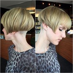 I cut a short bob on Jillian today, with blunt lines and a bold undercut! Come…