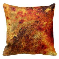 Burnt Orange Tan Abstract Throw Pillow SOLD on Zazzle