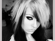 scene girls haircuts, styles, and colors pics   White Scene Hair Color Hairstyles For Girls