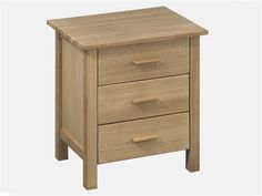 LPD Furniture Rosedale 3 Drawer Cabinet Bedside Chest