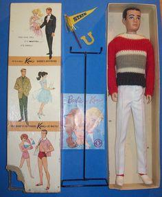 Vintage DRESSED KEN Doll Campus Hero #0770 #770 in Orig Box 1963-65 Barbie RARE #Mattel #Dolls