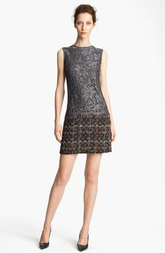 Dolce Lace & Tweed Shift Dress available at #Nordstrom