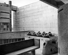 Lucien Herve, photographed Le Courbusier archtecture, check out this website before Kaufmann Center shoot