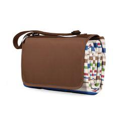 Picnic Time Blanket Tote - Lattice Stripes Brown (Lattice Stripes Brown) (Fleece) #820-00-523-000-0