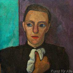 Paula Modersohn-Becker - Brustbild einer Frau in Schwarz mit Taschentuch