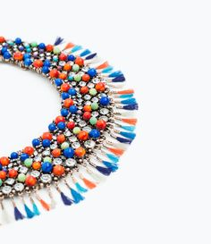 ZARA - WOMAN - STONES AND FRINGE NECKLACE