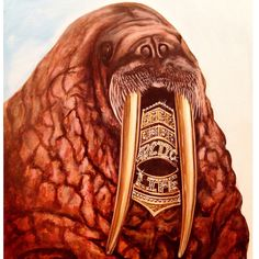 Walrus grill by BigRockGallery on Etsy https://www.etsy.com/listing/216866174/walrus-grill
