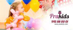 PRAkids Animaciones, todo para los más pequeños de la casa.  Celebraciones, fiestas, eventos...Diversión para tus hijos y tranquilidad para ti. PRAkids, un mundo de sonrisas!