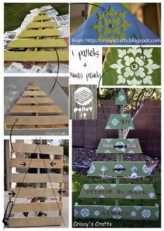 Pallet Christmas Tree | Pallet Christmas Tree | Craft Ideas