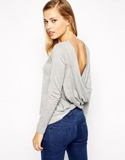 I love the hidden surprise with this ASOS jumper as it looks like any old jumper from the front until you turn around and reveal the twist back which is gorgeous and really sets the knit apart. Asos, Wrap Shirt, Dope Outfits, Mannequin, Cute Tops, Cardigans For Women, Pull, Her Style, Autumn Winter Fashion