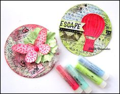 Neon Diary: Altered CDs with Gelatos Mixed Media Collage, Mixed Media Canvas, Faber, Cd Cases, Mixed Media Tutorials, Recycled Crafts, Alters, Tim Holtz, Altered Art