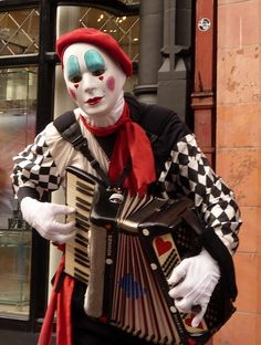 French clown accordionist