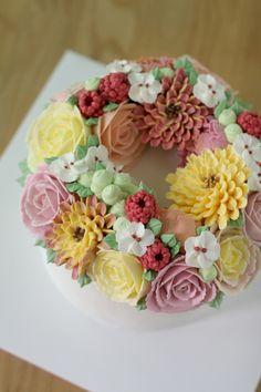 verandastudio buttercream flower cake ;D