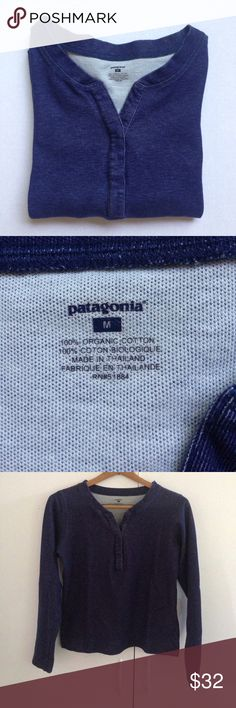 PATAGONIA 100% organic cotton sweater Patagonia 100% organic cotton lightweight sweater. Like blue denim color. In great condition. Patagonia Sweaters