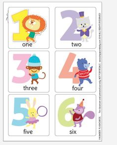 Free printable PDF number flashcards
