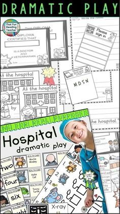 Hospital Dramatic Play: labels, lists, signs and printables are included to set up a play hospital right in your classroom! $