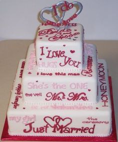 Valentine's Wedding Cake  Love this.... and you don't have to have a Valentine's wedding either!