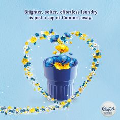 Always place fabric softener in the rinse basin or container of the washing machine so liquid is evenly distributed through the rinse cycle.
